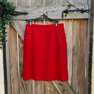 J Crew Wool Skirt Red Size 2